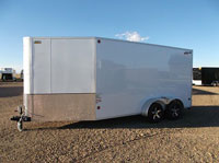C-Jay 7x14 Enclosed Cargo w/ 5' V-Nose Driver Front