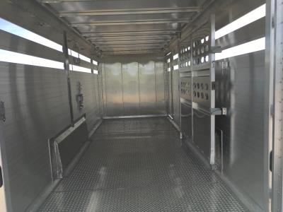 2021 Slat Side Wilson Roper 7X24- 4' Tack Room - GUN Metal Grey Nose