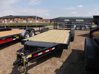 Trail Tech 7x18+2 Equipment Trailer Driver Front