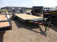 Trail Tech 7x18+2 Equipment Trailer Curb Front