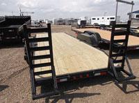 Trail Tech 7x18+2 Equipment Trailer Rear